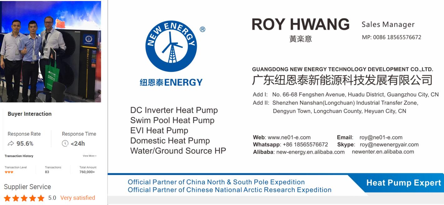 2019 OEM China DC Inverter Heatpump Air to Water Warmepumpe Mini Split Inverter Air Source Heat Pump