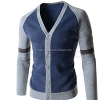 bright color block color combination 12 guage men custom varsity cardigan sweaters