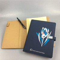 reusable notebook with digital print custom logo, fancy notebook organizer with usb flash drive
