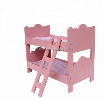 Hot Selling Pretend Play Wooden Doll Furniture Doll Bunk Beds Buy