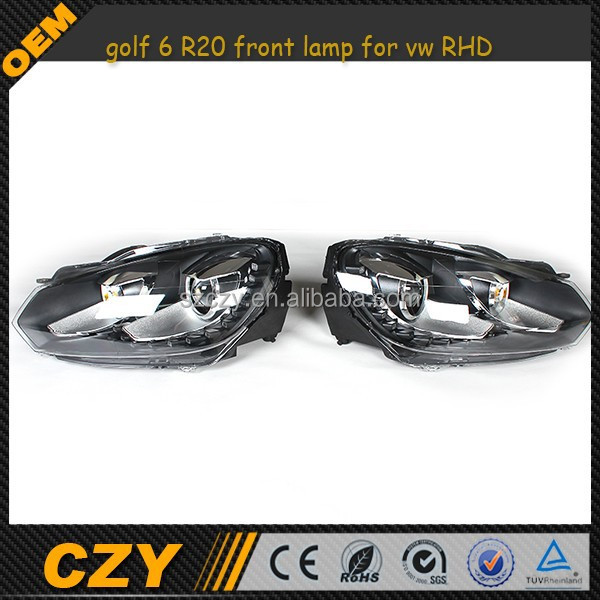 golf 6 R20 front lamp for vw RHD with 15pcs led
