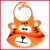 2017 new silicone rubber children's food coffer is a cute baby cartoon bib