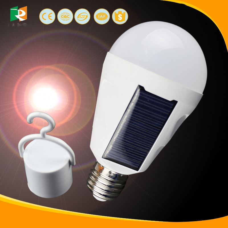 Avatar high quality 100-240V A60 LED Bulb Light E27 EMC approved solar rechargeable light bulb