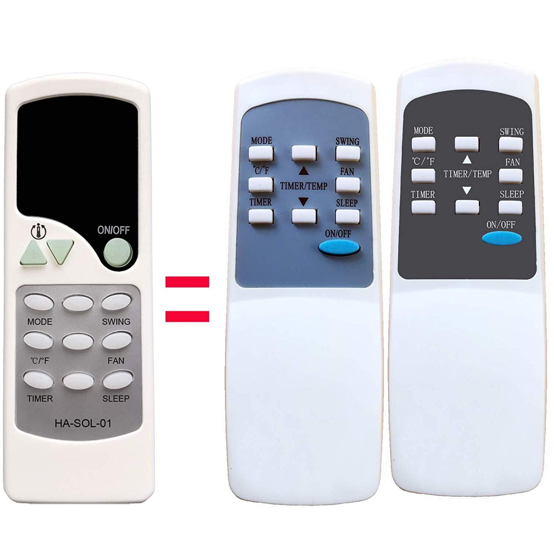 HA-SOL-01 Replacement for Soleus Air Portable Air Conditioner Remote Control PE8-11R-32 KY5-110 PE8-12R-32 KY5-120 PE7-10R-03 PE6-10R-03 PE4-12R-03 PE2-08R-62 PE2-10R-32 PE2-08R PE2-10R PE2-07R-62