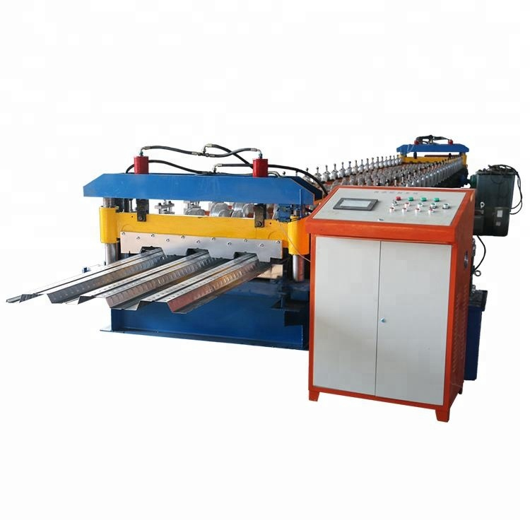 Floor decking 720 cold panel roll forming machinery/bearing floor deck sheet rolling machine/deck floor forming machine