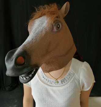 Full Face Head Horse Mask Animal Mask Latex Party Animal Mask Kids  Halloween Masquerade Party - Buy Full Face Horse Mask,Horse Animal  Mask,Halloween