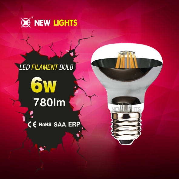 Best selling products energy saving led mushroom bulb r63 8w e27 IC driver filament led bulb
