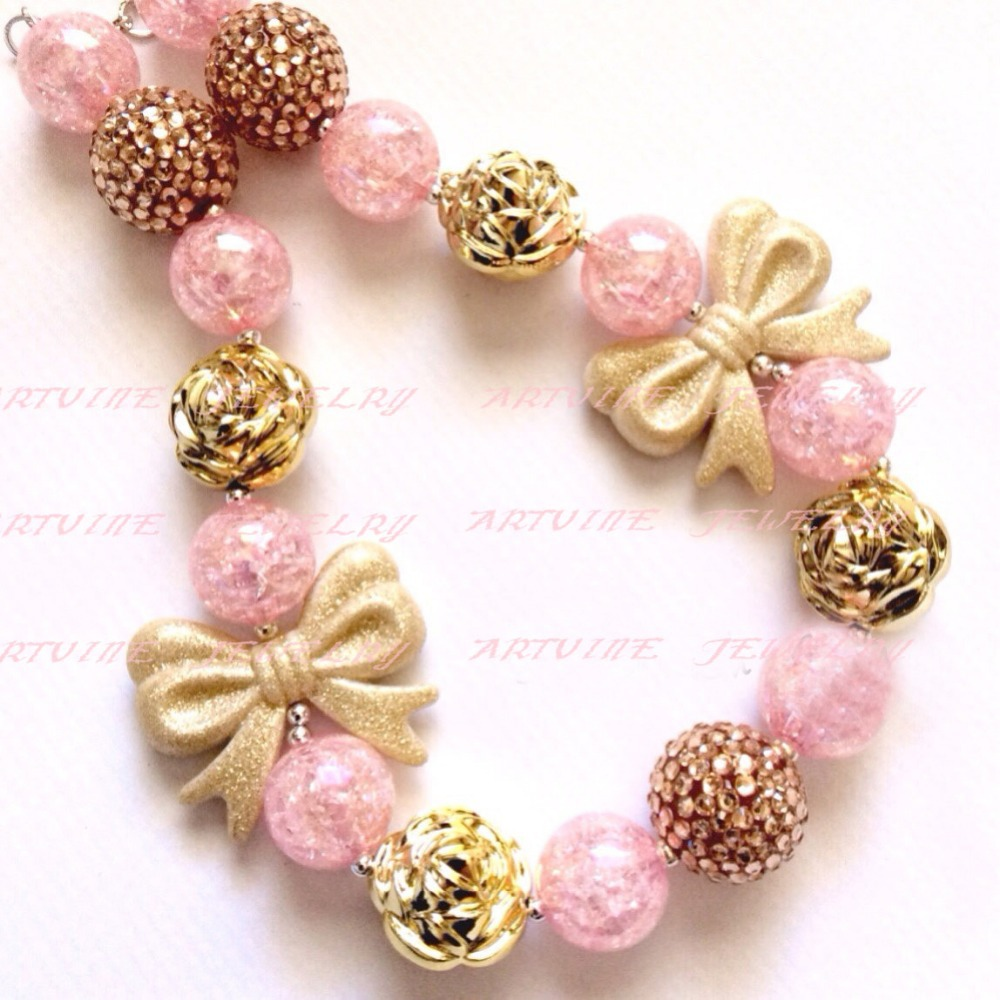Aliexpress.com : Buy 2pcs Gold Bow Glitter Necklace First