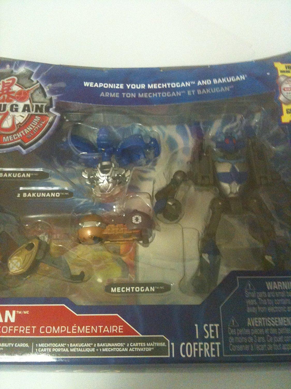 BAKUGAN Mechtanium Surge Blue Aquos HURRIX Mobile Assault w//Real Diecast