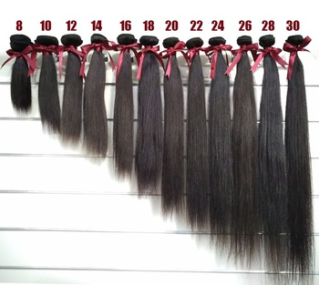 Raw unprocessed wholesale real 8 10 14 16 18 20 24 26 28 30 32 34 40 50 inch virgin remy brazilian human hair weave