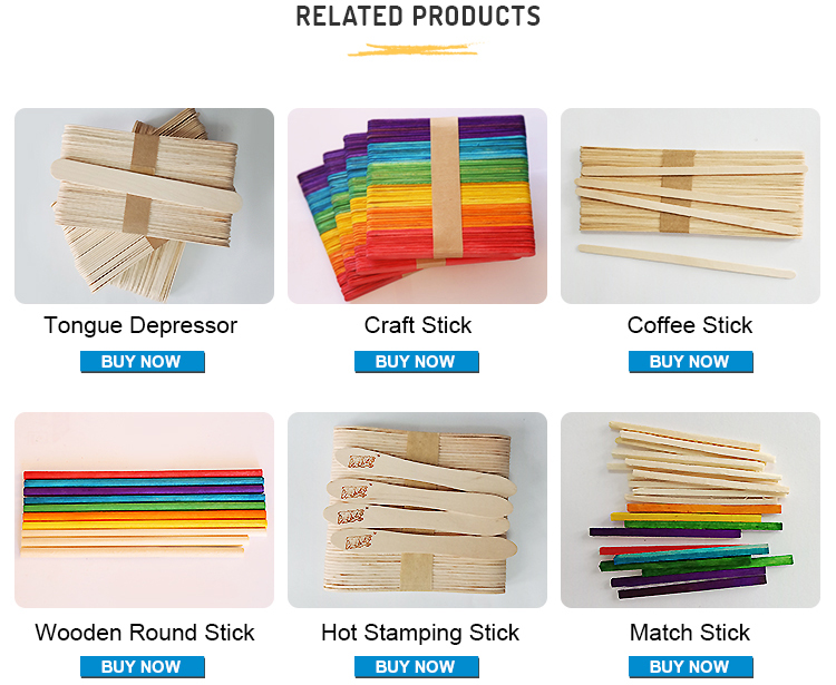 Factory wholesale disposable birch wood craft stick wooden craft sticks