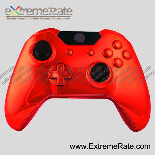 red shell for Xbox1 controller shell, for Xbox one housing, replacement parts chrome polished matte shell for XBOXONE controller