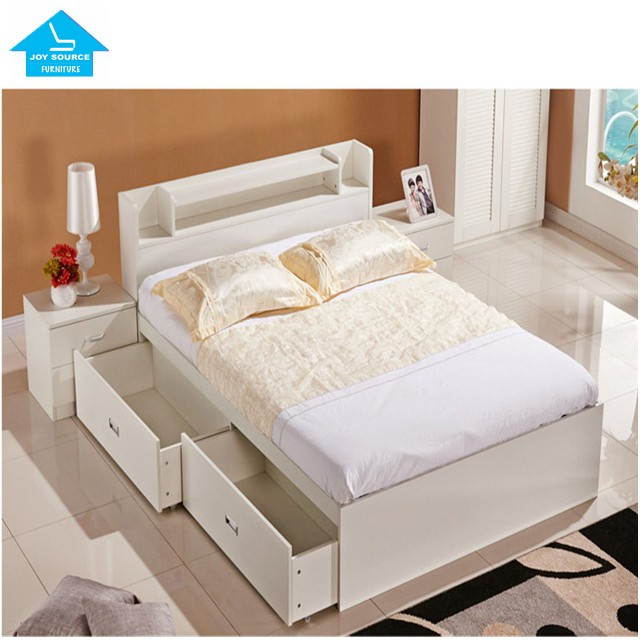 Simple Design Furniture Mdf Kid Single Bed With Drawer Buy