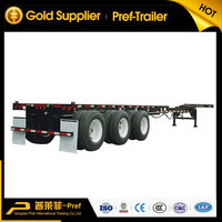 New and used 40ft-45ft extendable container chassis skeleton / skeletal trailer chassis for sale