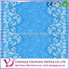 Latest nylon net embroidery border lace
