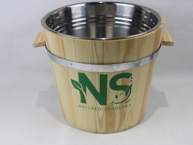 Hot sale wooden storage bucket rice bucket