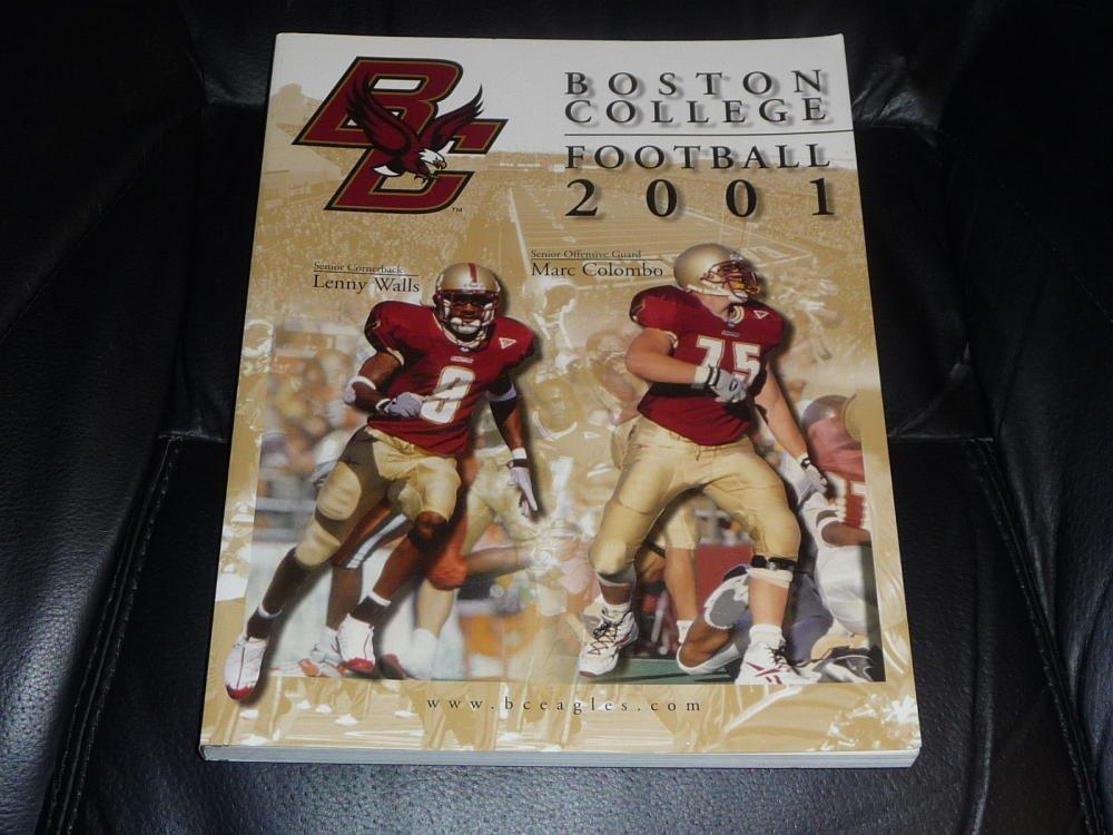 2001 BOSTON COLLEGE COLLEGE FOOTBALL MEDIA GUIDE EX-MINT BOX 38