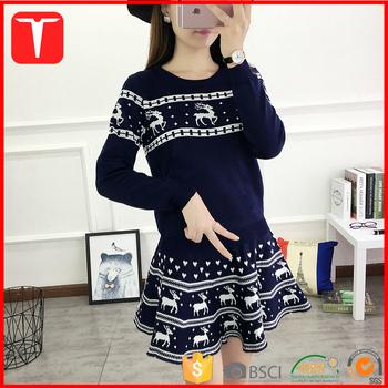 Women Reindeer Pattern Christmas Twin Set Sweater Sets Buy Twin