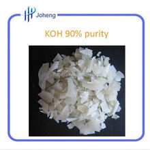 synthetic rubber 90% mini purity KOH Potassium Hydroxide manufacturer