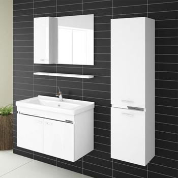 White Ghana Bathroom Vanity Unit With Marble Top