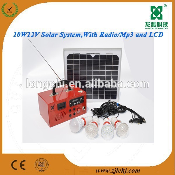 2015 NEW DESIGN solar system for home with FM radio