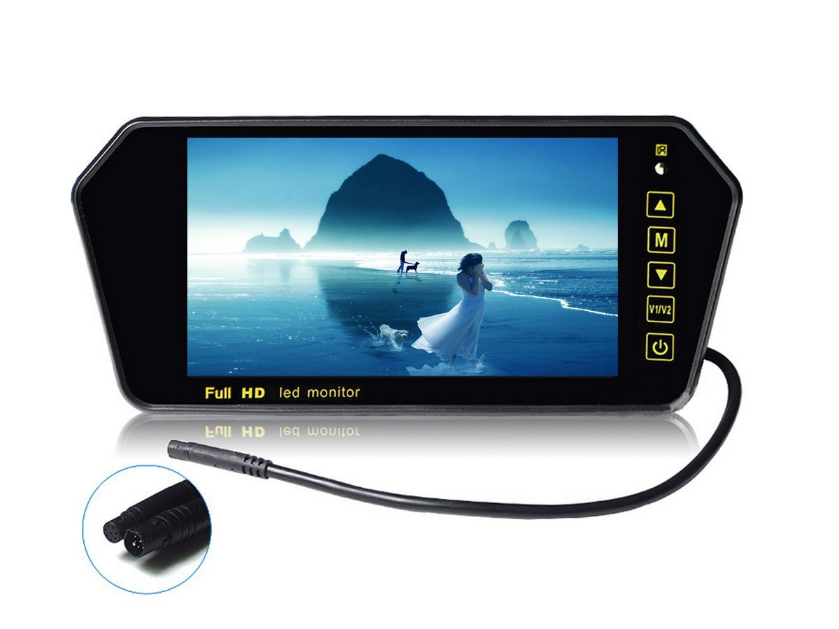 CAIRUTE® 7 Inch HD 16:9 TFT LCD Color Wide Screen Car Rear View Mirror Monitor In-mirror Rearview Car Reversing Monitor