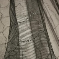 Silver shiny tulle metal fishing net mesh fabric for clothing