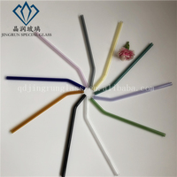 high quality glass straw wholesale straight glass straws smoothie drinking for hot sale