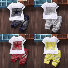 Baby Boy Kid T Shirt Tops STAR Sportswear T shirt Top and Short Pants Outfit Set