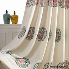 Chinese style long life wish embroidery living room curtain