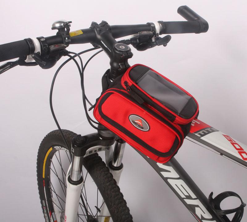 Top Tube Touchscreen Bicycle Frame Bag Cycling Phone Bag Bike
