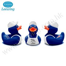 Rubber Floating Blue Painter Bath Duck