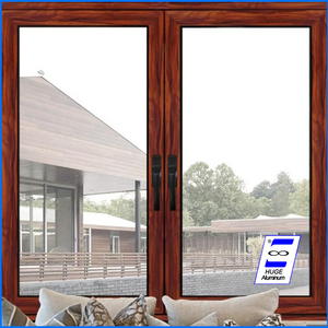 Aluminium window with tempered glass