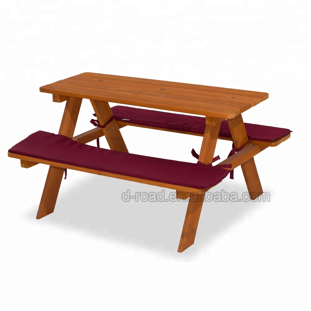 Stable Sturdy Design Garden Wooden Beer Garden Table And Bench 2 In 1  Picnic Table