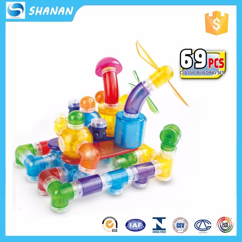 36pcs Educational Tube Diy Interlocking Plastic Building ...