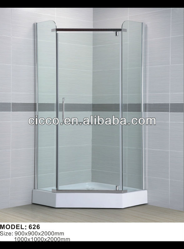 Simple And Safe Tempered Glass Shower Door