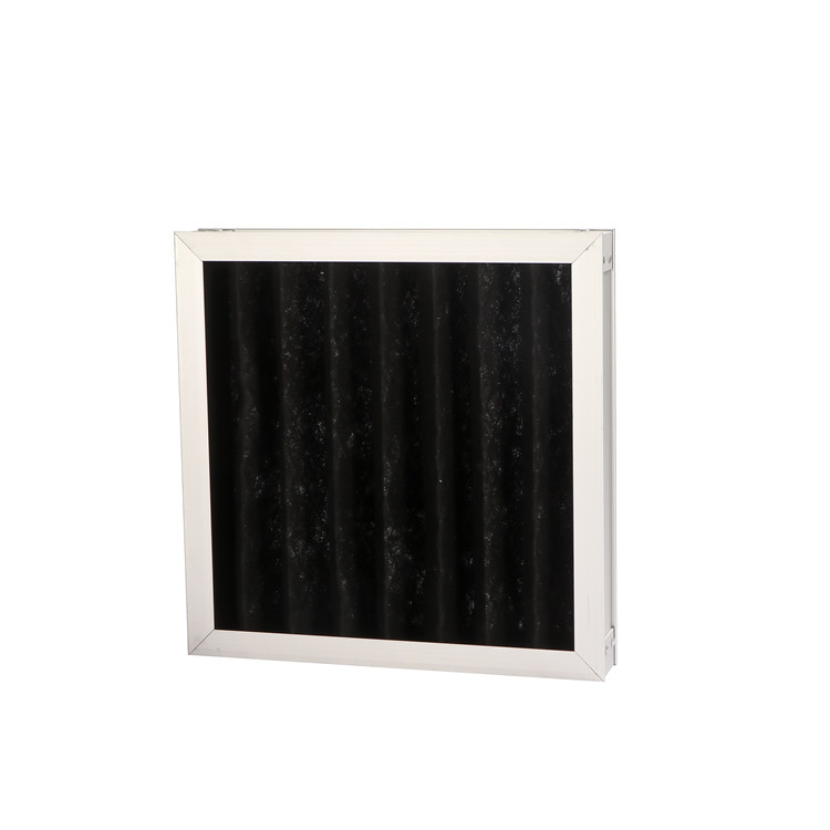High grade chemical activated carbon plate panel filter