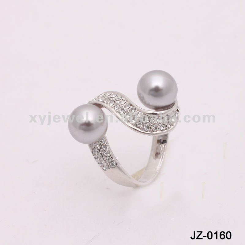2012 New Fashion Silver Pearl Ring Designs For Girls - Buy Pearl ...