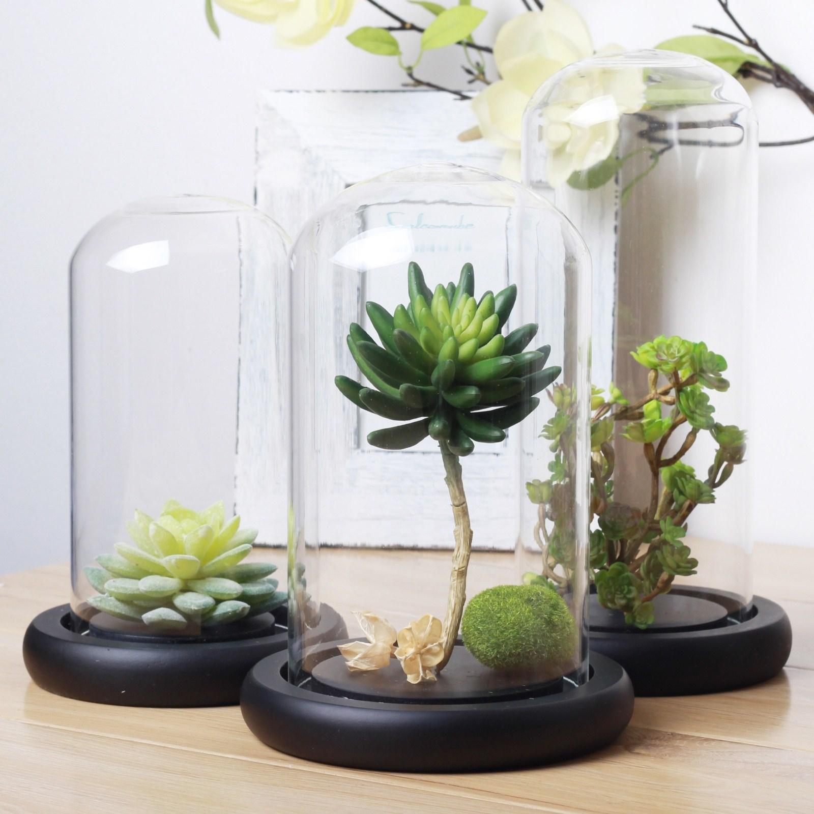 h j made bell jar glass cover without knob home decoration wedding decoration wholesale in vases. Black Bedroom Furniture Sets. Home Design Ideas