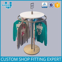 Retail Boutique Display Furnirute Commercial Revolving Spiral Center Racks Clothing