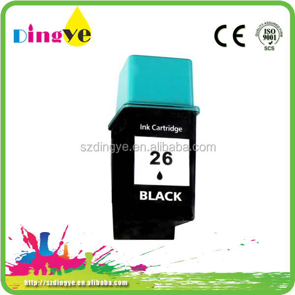 refilled ink cartridge use for hp26 with chip from China