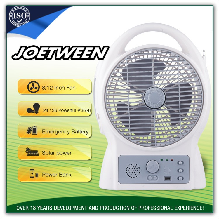 Professional 12 volt ac/dc operated akari rechargeable table fans
