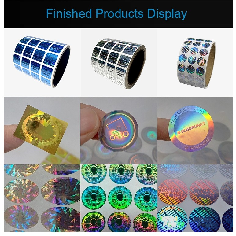 Good quality anti-counterfeiting custom 3d hologram security sticker