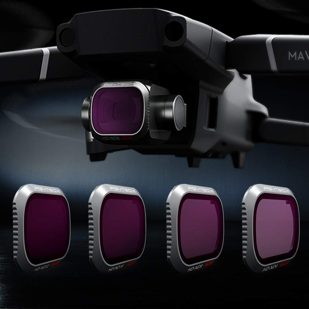 Filter for Mavic 2 Pro, Elevin(TM) for DJI Mavic 2 Pro Drone Accessories ND4 CPL UV Waterproof Camera Lens Filters (3pcs Set)