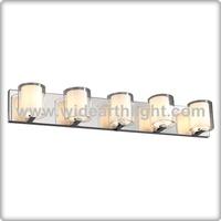 UL CUL Listed Chrome 5 Light Glass Shade Hotel Bathroom Sconce W90005