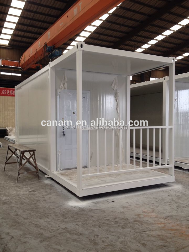 CANAM-design best quality temporary prefab family living rooms with garage