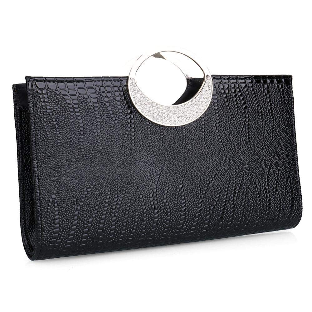 Get Quotations · RISUP Womens Luxury Evening Purse Clutch Rhinestone  Leather Handbag Evening bag Wallet for Wedding and Party dc834eb8c0572