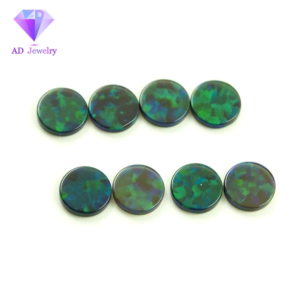 Double flat round shape no resin opal gems for earrings