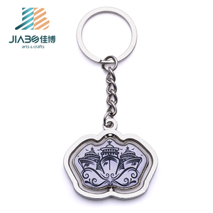 Jiabo rotating custom metal auto home keychain