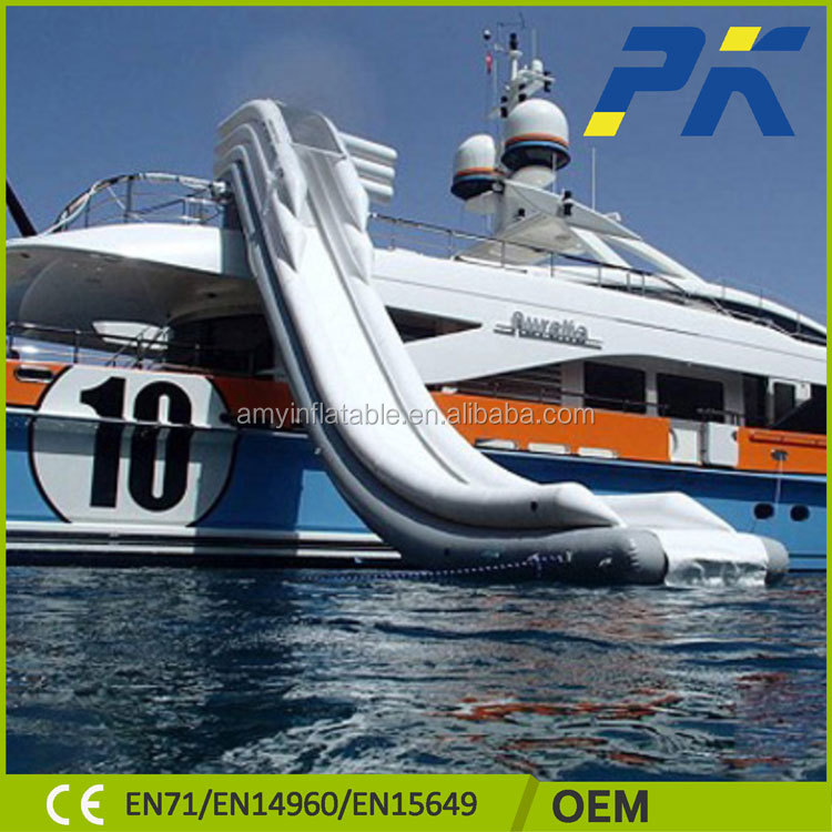 Inflatable Water Slide Port Macquarie: Populaire Géant Gonflable Yacht Toboggan, Gonflable Yacht